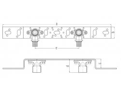 Монтажный блок UP 75/150 мм