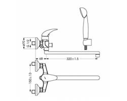 Смеситель Orion BA005AA для для ванны