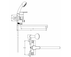 Смеситель Fresh BA031AA для ванны